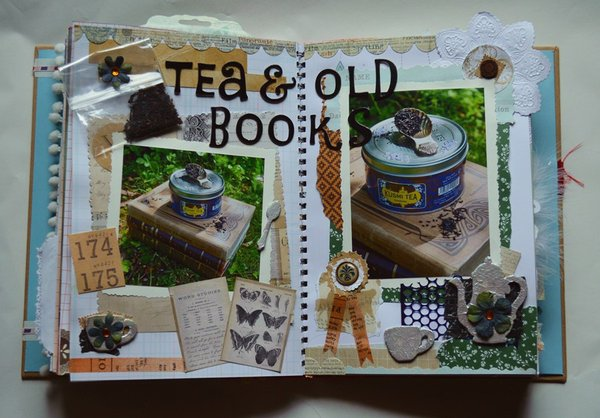 Tea and old books- Pages from my Smashbook
