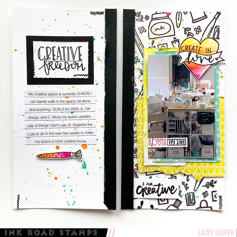 Creative Mess Travelers Notebook Layout