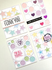 Valentine's Die Cut Cards