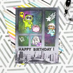 Happy Birthday Space Card