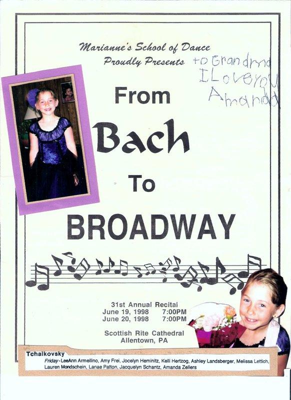 Amanda's Dance Recital