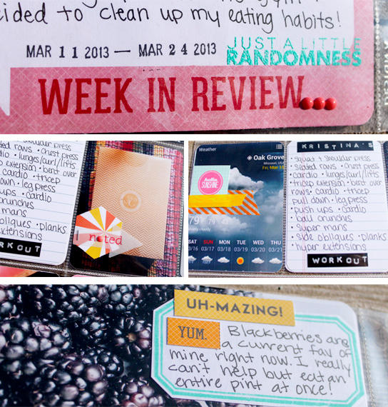 Project Life 2013: Week 11&12