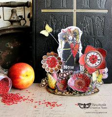 Stamped flower garden - Finnabair Creative Team