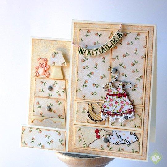 Tiny girly room - congratulation card