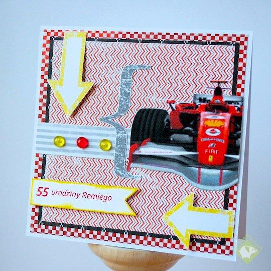 Birthday card for F1 fan