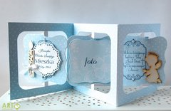 Accordion card for Christening day