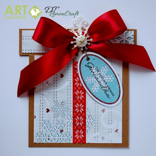 Gift shape Christmas card