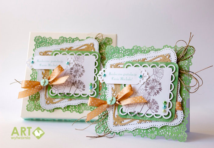 Congratultions card with a matching box
