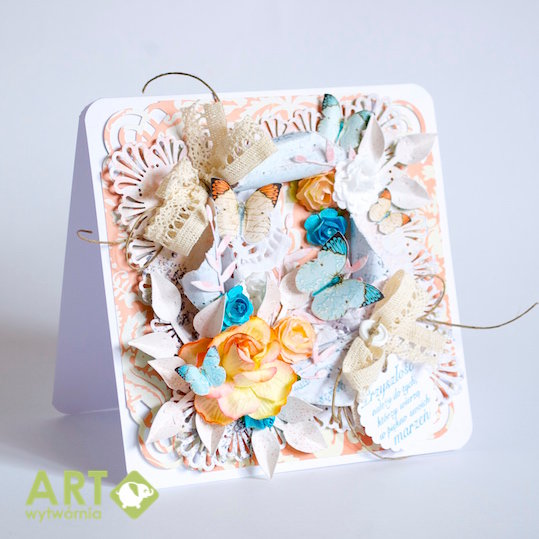 """""""Exploding"""" card with flowers and butterflies"""