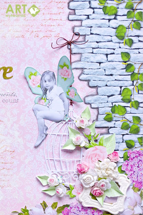 Little garden fairy lost in thoughts