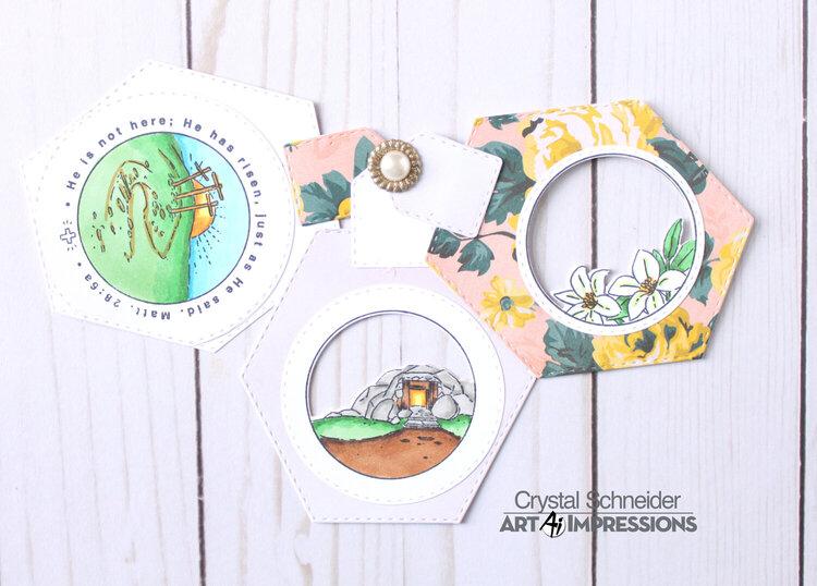 Circle Easter card