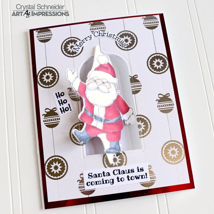 Santa Twister card