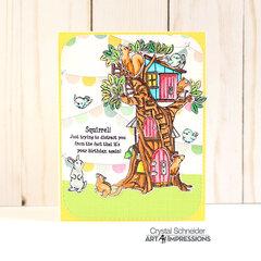 Tree house card- Happy Birthday