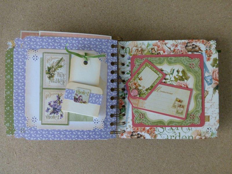 Secret Garden mini scrapbook