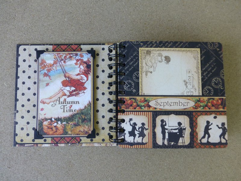 Pages from ABC Primer mini scrapbook