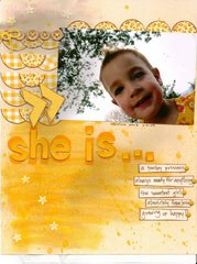 she is...