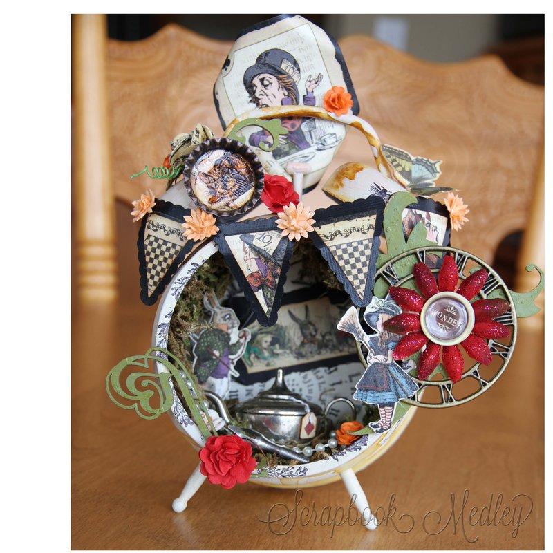 Tea Time Tim Holtz Clock