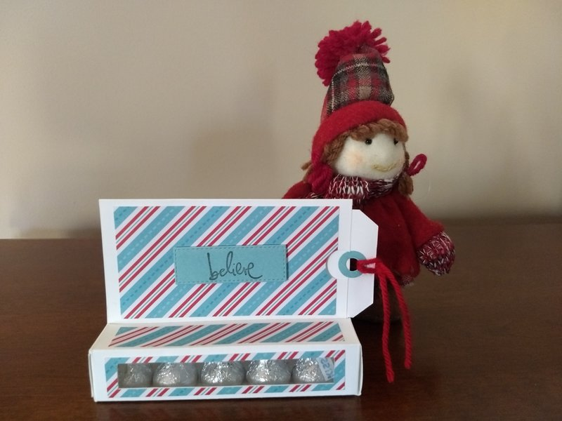 gift card holder with candy and tag