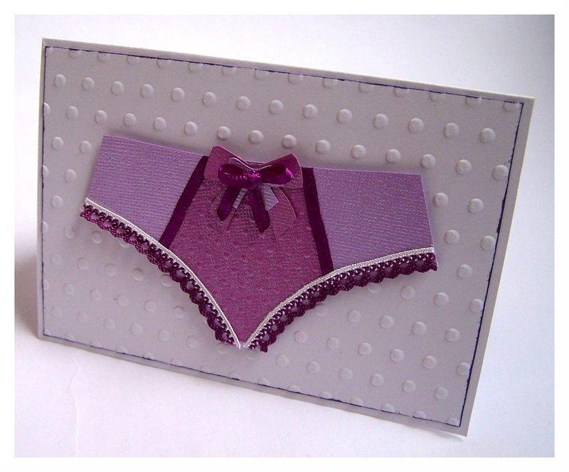 Lingerie Card - Pants