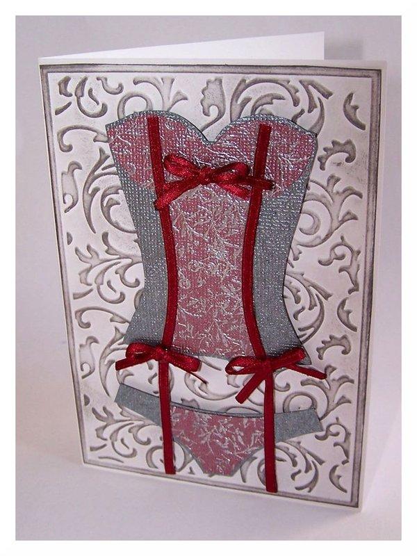 Lingerie Card - Corset