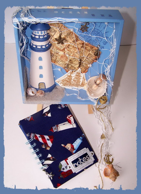 Shadow Box with Lighthouse