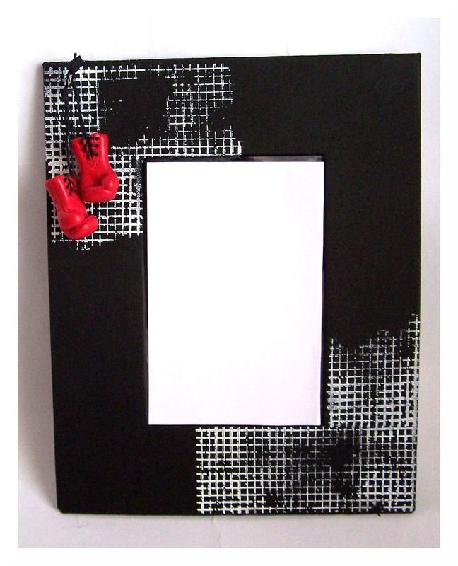 Boxer - Photo Frame with Fimo Element
