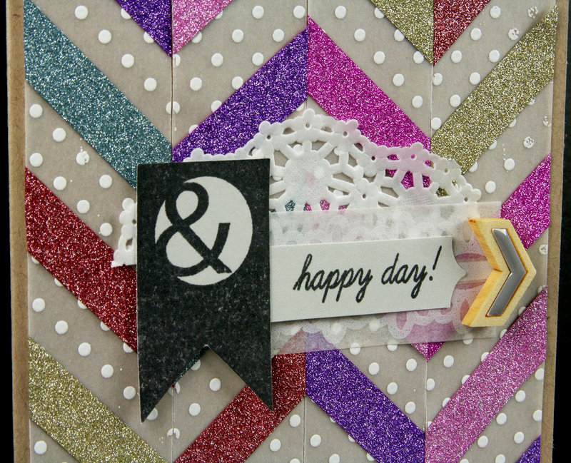 Glitter Washi Chevron Background Card