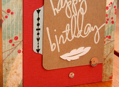 Feather Birthday Card