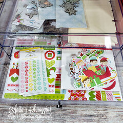 December Daily Organization using Deflecto Three Drawer Organizers