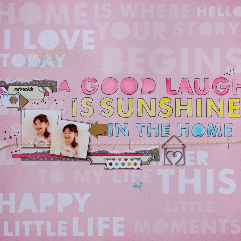A good laugh is sunshine in the home