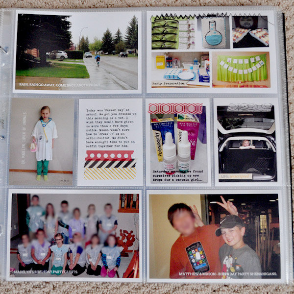 Project Life - Week 21 Right Side Close up