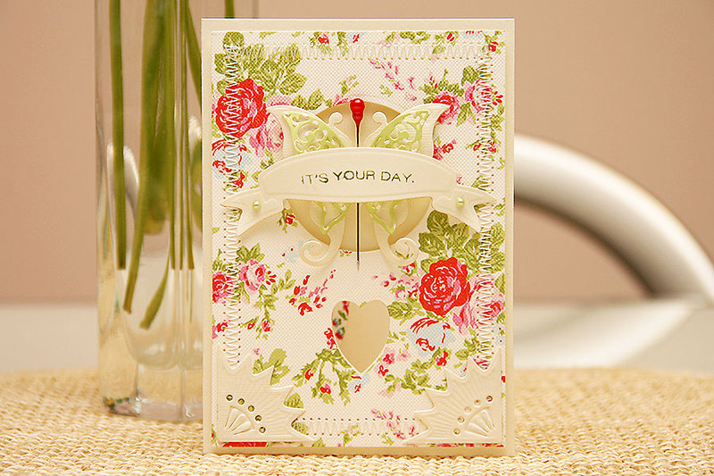 """Spellbinders """"Its Your Day"""" Card"""