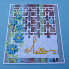 angled view of hello card to show dimension