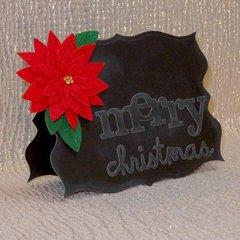 chalkboard + felt = Christmas
