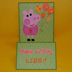 Peppa Pig Stepper card
