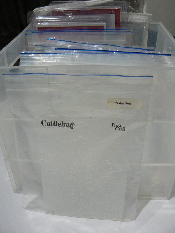 Embossing folder organisation