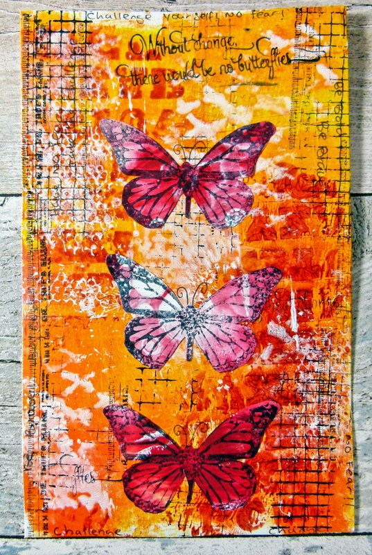 Without Change Art Journal Page