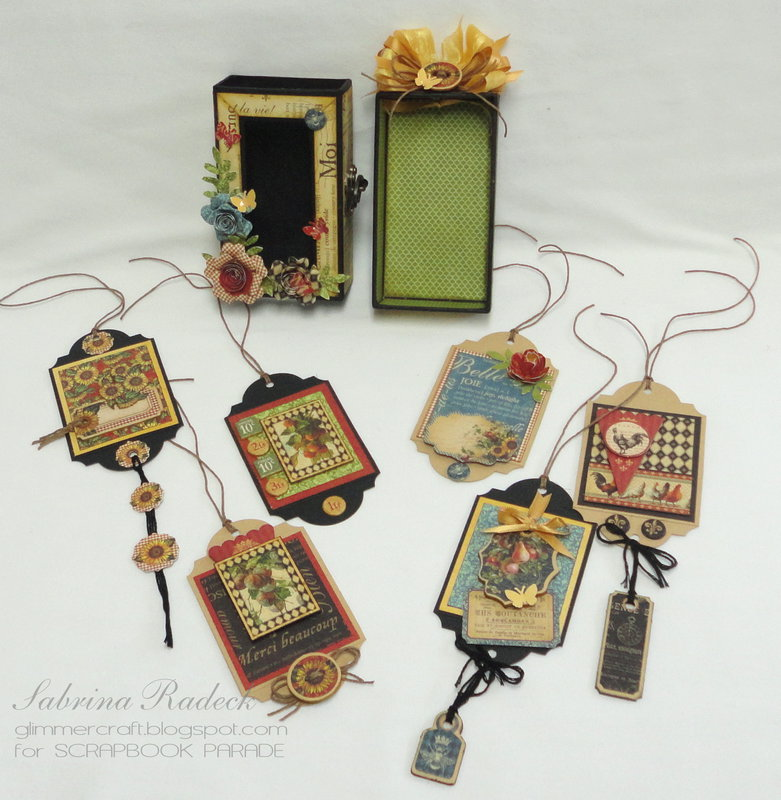 G45 French Country Matchbox & Tags