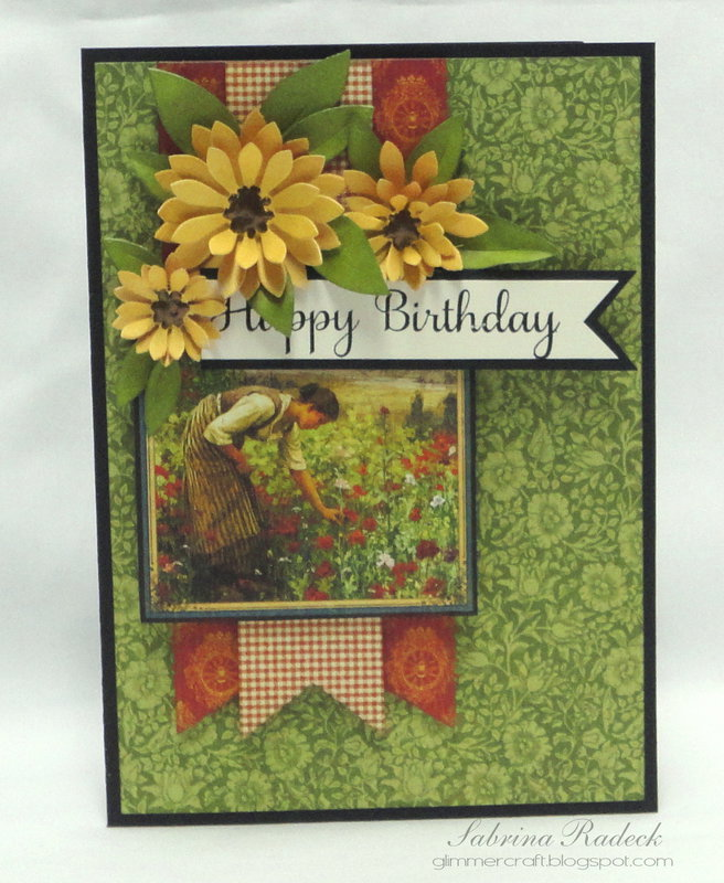 Simple French Country Birthday Card