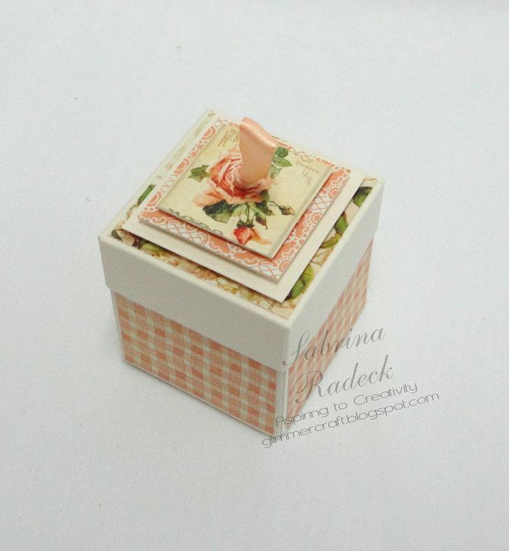 Repurposed Box & Card Set Gift