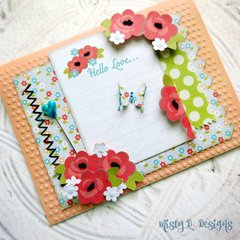 Hello Love Spring card