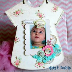 Clear Scraps baby girl album