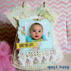 Clear Scraps baby girl album