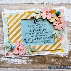 John 14:27 floral card