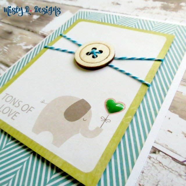 Tons of love baby shower card