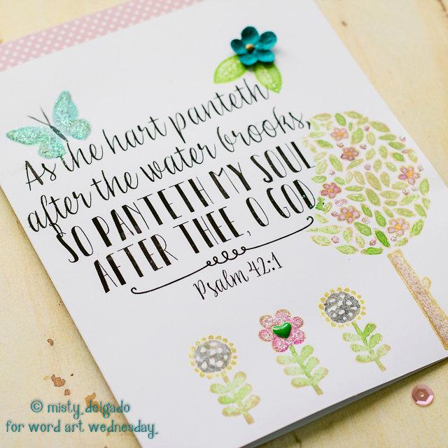 Psalm 42:1 Card