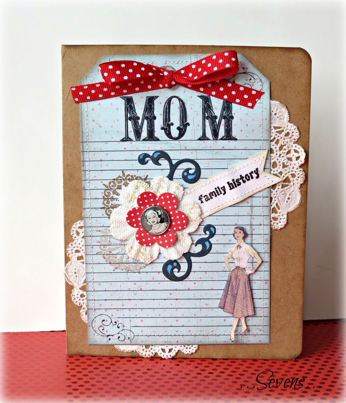 retro mother's day card