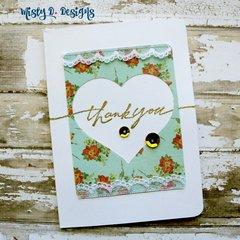 vinatage thank you card