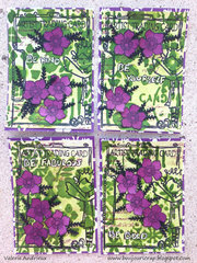 purple flowers ATC