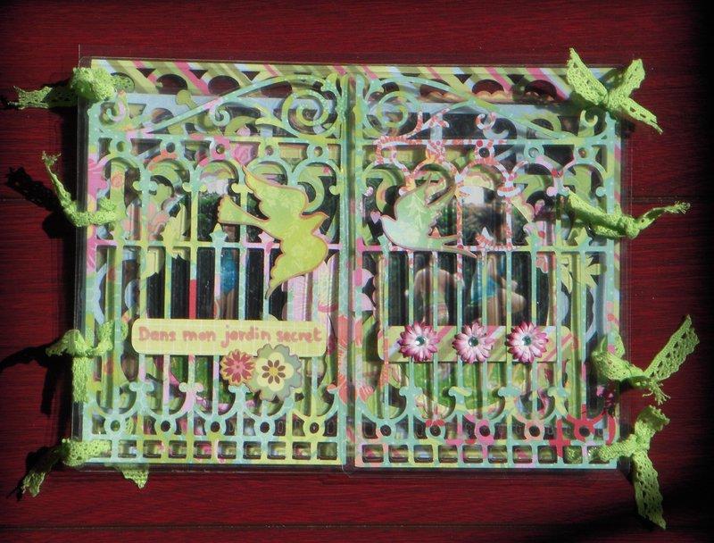 laminated mini : in my secret garden
